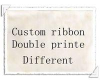 50/100 ярдов Ribbon двойной печатных для различных patterm Grosgrain ленты