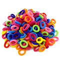 Wholesale 100 Pcs Colorful Child Kids Hair Holders Cute Rubber Hair Band Elastics Accessories Girl Charms Tie Gum