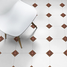 10pcs/lot 3D Europe Style Tile Wall Sticker Kitchen Bathroom Toilet Tiles Waist Line Art Mural Vinyl Floor Diagonal Decals