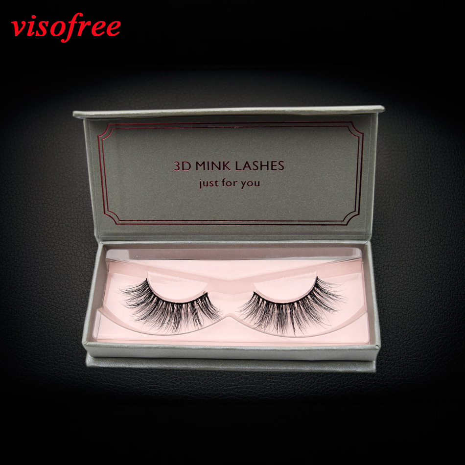Visofree 3D Mink Lashes Reusable Eyelashes 100% Handmade Full Strip Lashes Medium Volume Cruelty Free Mink Eyelashes False Lashe