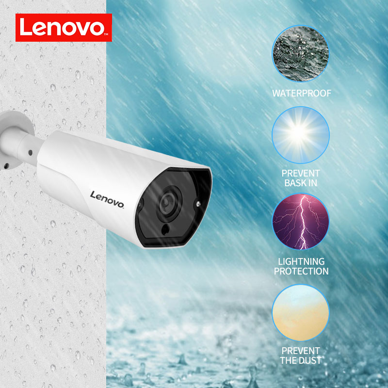 Image 2 - LENOVO 1080P POE NVR Kit 2.0MP HD CCTV Security camera System Audio monitor IP Camera P2P Outdoor Video Surveillance System-in Surveillance System from Security & Protection