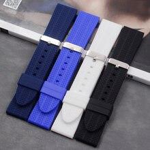 Мягкий силиконовый ремешок аксессуары для мужских часов 22 мм