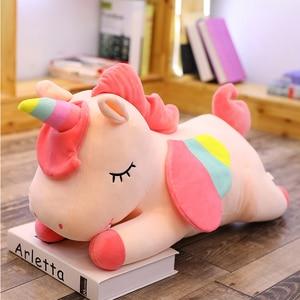 Image 4 - Western ตำนาน PUSHEEN Big Plush Unicorn ตุ๊กตาตุ๊กตาของเล่นตุ๊กตาตุ๊กตา Unicorn ปีกหมอนนุ่มสาววันเกิดของขวัญ Licorne