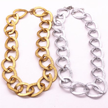 Aluminum chain 50 centimeters long candy necklace