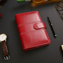Y17 personal diary spiral notebook agenda planner organizer A5 A6 ring binder creative note book leather cover office stationery