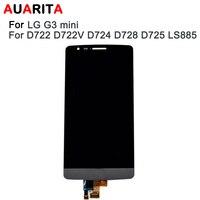 Aaa品質1ピース液晶lg g3ミニd722 D722V d724 d728 d725 LS885 lcdディスプレイ付きタッチスクリーンデジタル化アセンブリでツール