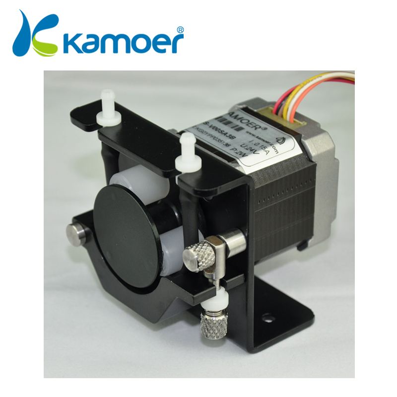 mini peristaltic pump with high precision micro electric water pump 24V with stepper motor kamoer (L) kamoer kcs mini peristaltic pump stepper motor 24v electric water pump