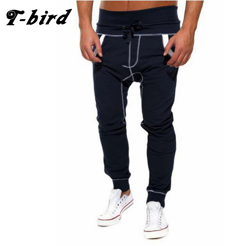 T-bird New Fashion 2017 Joggers Men Brand Personality Splicing Sweatpants Male Compression Pants Casual Tactical Pants Mens XXL