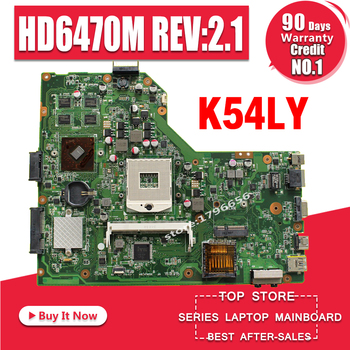K54LY Laptop motherboard USB:3.0 1GB HM65 HD6470M for ASUS K54LY X54HR K54HR X54H Test mainboard K54LY motherboard test 100% ok