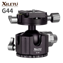 XILETU G-44 TOP Panorama 360 Degree Camera Tripod Ball Head 44MM Aluminum Alloy Ballhead with Quick Release Plate for ARCA-SWISS 360 degree panoramic gimbal tripod head with arca swiss standard 1 4 quick release plate bubble level for digital slr camera