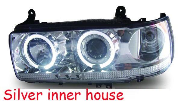 1 paire Prado 4500 LC80 FJ80 LED Ange Yeux Phare 1990 1991 1992 1993 1994 1995 1996 1997 année RC Noir/argent accessoires de voiture