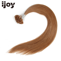 Fusion Nail U Tip Hair Brazilian Remy Straight Tip On Human Hair Extensions 20 Inches Pre Colored Keration Capsule #6 20 IJOY