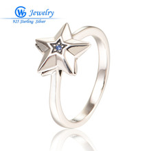 Sapphire Gem Fashionable 925 Sterling Silver Star Ring Blue Stone Social gathering Jewellery Girls Rings Wholesale Diy GW Fantastic Jewellery RIPY081H20