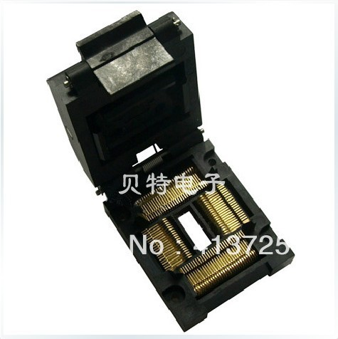 QFP100 burning IC51-1004-814-6 test socket programming adapters