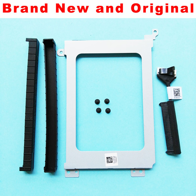 New For Dell Precision 5510 XPS15 9550 9560 HDD Cable Connector 0XDYGX XDYGX HDD Caddy Bracket 3FDY3 03FDY3 SHOCK PROOF RUBBER