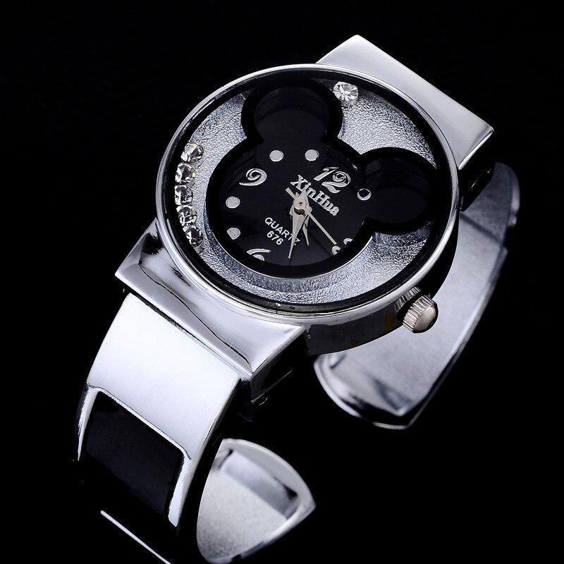 Watches Women Mickey Mouse Stainless Steel Women Watches Clock Ladies Watch Relojes Mujer Montre Femme Zegarek Damski 2019 Saati 4