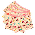 Ricos estilos opcionales Niños underwears Niñas calzoncillos boxer de algodón arco Pequeño y Encantador de la historieta de impresión Elástico de la cintura del estiramiento Completo