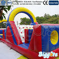 FREE SHIPPING BY SEA Large Outdoor Inflatable Obstacle Course With EN-71 For Interactive Games