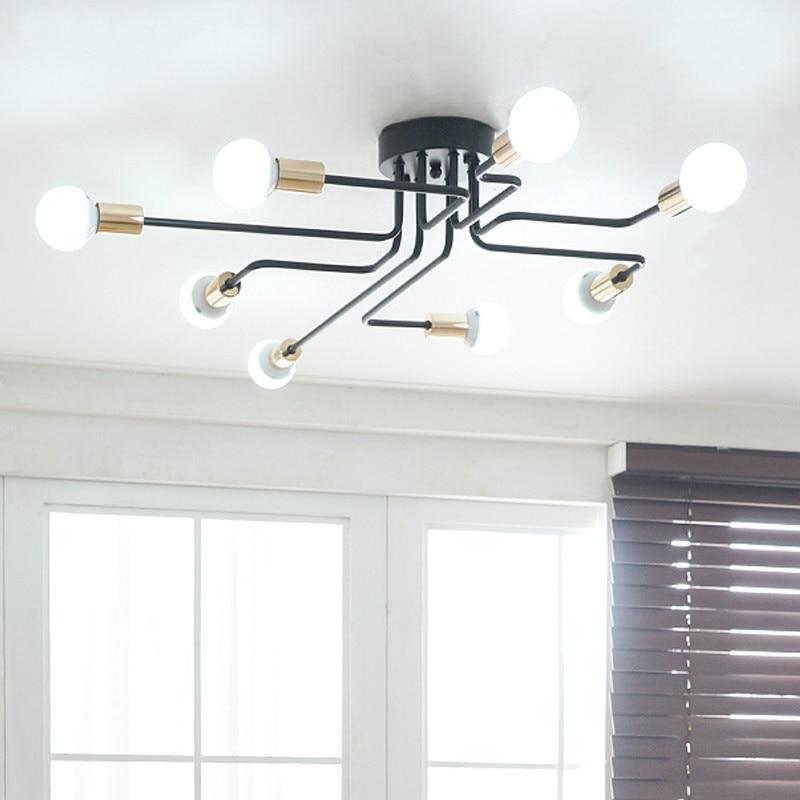Lustres de casa criativa iluminação ac110v/220 Instalação : Montagem Semi-embutida