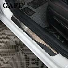 цены For kia stonic 2018 Stainless Door Sills Kick Plates Protector Car Styling Accessories 4pcs