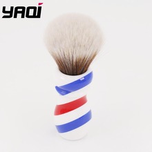 Yaqi Neue Barber Pole Stil 24mm Mew Braun Synthetische Knoten Rasieren Pinsel