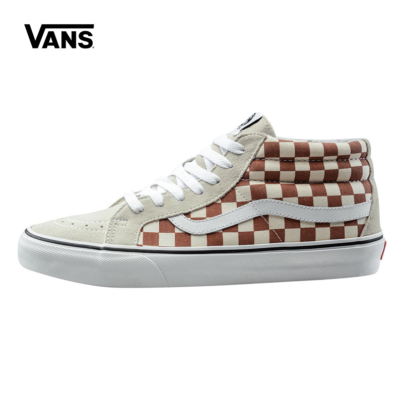 Original New Arrival Vans Mens & Womens Classic Sk8-Mid Reissue Skateboarding Shoes Sneakers Canvas Comfortable VN0A3MV8QJX/QJY