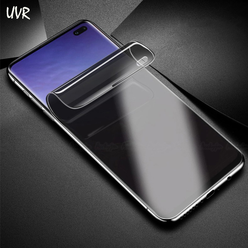 UVR Anti Spy Privacy Hydrogel Film For Samsung Galaxy S10e S10 Plus 3D Full Cover Screen Protector S10Plus Fingerprint Scanner