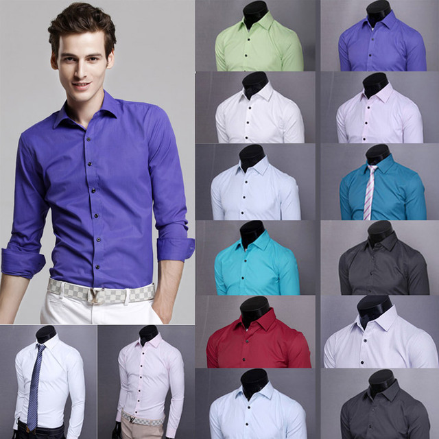 2014 lente plus size fashion kleine gestreepte/obscure heren overhemden casual slim fit lange mouwen camisa masculina M-3XL