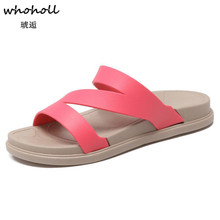 Whoholl Brand 2019 Women Sandals Summer Shoes Beach Slippers Slides Zapatillas Mujer Scarpe Zapatos Size 36-40