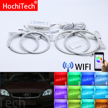 Wifi Wireless RGB Multi-Color LED Angel Eye Halo Rings Day Light DRL for Ford Focus II Mk2 2004 2005 2006 2007 2008