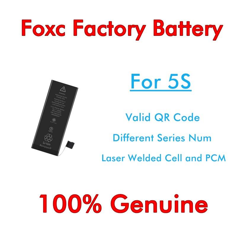BMT original 10 teile/los Foxc Fabrik Batterie 0 zyklus 1560 mAh Batterie für iPhone 5 S ersatz BMTI5SFFB