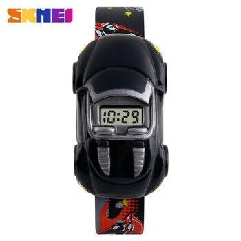 SKMEI Car Children Watches Fashion Casual Cartoon Digital Sport Watch For Boy Girl Student Kids Wristwatches