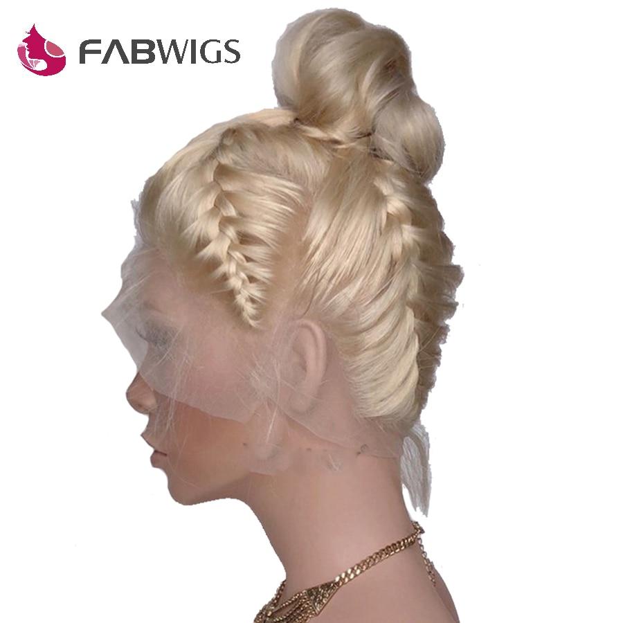 Fabwigs 150% Densidade Pré Arrancadas #613 Loira Cheia Do Laço Perucas de Cabelo Humano com Cabelo Do Bebê Remy Brasileiro Do Cabelo Humano perucas Para As Mulheres
