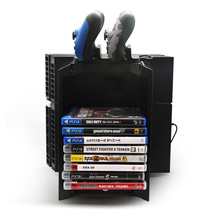 Multifunctional Disk Storage Tower with Controller Charging Dock and Console Stand for Sony Playstation 4 PS4
