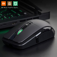 Asli Xiaomi Wireless Mouse Gaming USB 2.4G Hz 7200 Dpi RGB Backlight Mouse Gamer Optical Rechargeable Komputer(China)