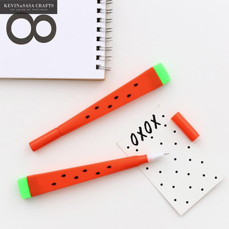 3Pcs Fruits Gel Pen Cute Pen Stationary Kawaii School Supplies Gel Ink Pen School Stationary Office Suppliers Pen School Tools