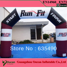 Free Shipping 6m Inflatable Arch Event Entrance Finish Line for Sports Events Advertising Inflatables with blower&1color logo