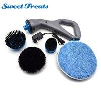 4pcs Power Scrubber Brush Set for House Drill Scrubber Brush for Cleaning Cordless Drill Electric Scrub Brush
