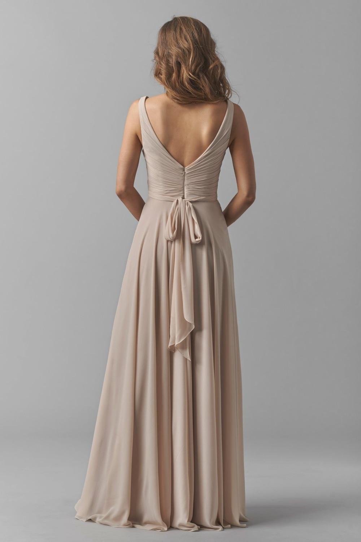 3694f3d8b0 Vestido de Festa longo Elegantes Moderno Vestido de Noche Largo Con Cuello  En V Plisado de Gasa Una Línea de Champagne Vestido de Fiesta Vestidos  Formales ...