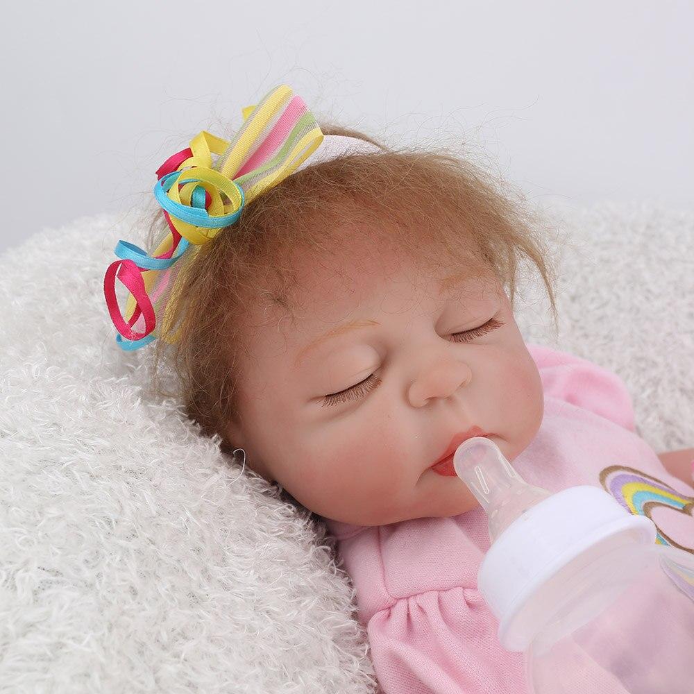 NPKDOLL 17 pouces 43 cm Silicone Reborn bébé poupées vivantes Bebes Reborn réaliste réaliste fille endormie cadeau d'anniversaire jouets - 6
