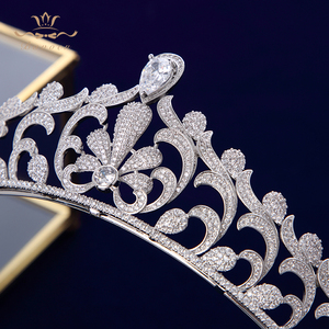 Image 4 - Bavoen elegante claro repleto de circonita novia coronas Tiaras cristal diademas de boda novia pelo accesorios de joyería
