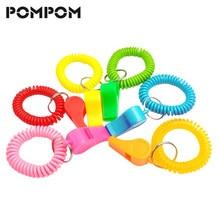 7e95e579d9d0 Moda elástico plástico llavero primavera para Whistles colorido primavera  Stretch bobina llavero pulsera espiral cordón llavero