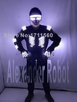 LED luminous Western style clothes for performance/business suit/light up suits/LED SUIT