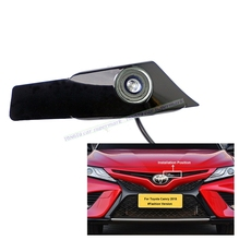 Cámara con logotipo de estacionamiento y vista delantera para coche, impermeable, CCD, compatible con PAL/NTSC, para Toyota Camry 2018 (Versión de moda)