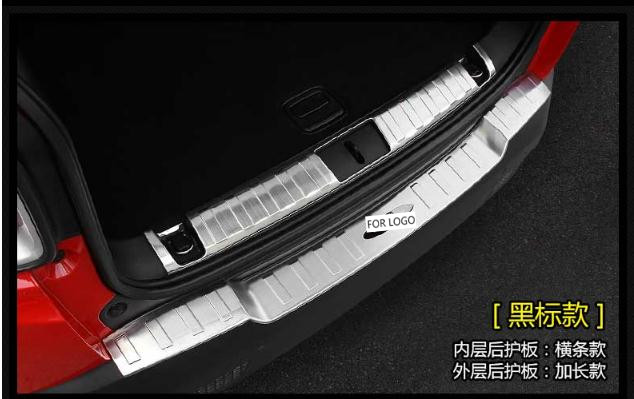 Rear door Bumper Protector Sill plate cover trim For LEXUS RX350 450 2016 2017
