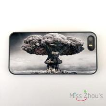 Atomic Bomb Mushroom Cloud Clown back skins mobile cellphone cases for iphone 4 4s 5 5s