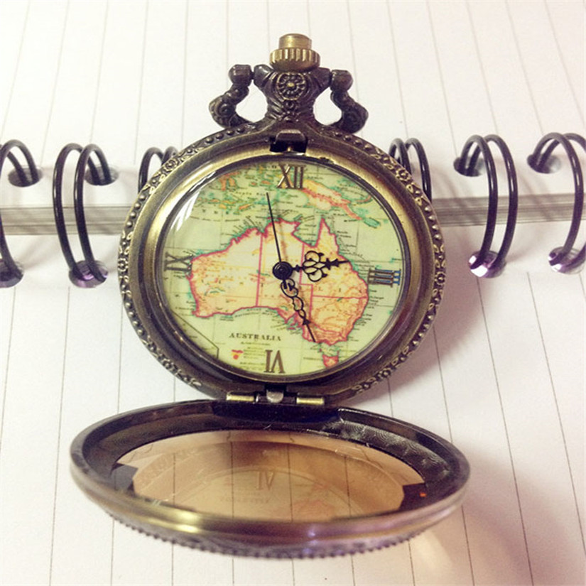Australian Map Pocket Watch