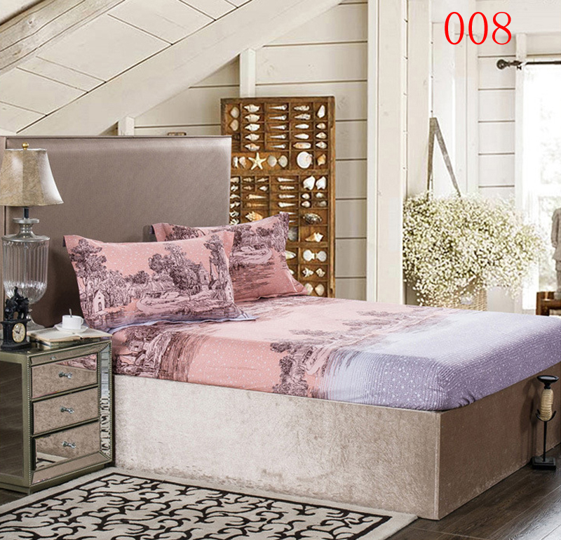 Cotton Ed Bed Sheet Sheets Bedroom Thick Winter Cover Landscape Painting Mattress Full Queen Bedspread Bedsheet In From Home Garden