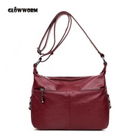 TOTE Genuine Leather bags handbags women famous brands casual large capacity big shoulder crossbody bags female bag