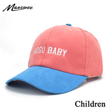 Fashion Children Baseball Cap Boys Letter MOGU BABY Sun Hat 4 Colors Girls Caps Summer Snapback Unisex Adjustable Hats Bones(China)